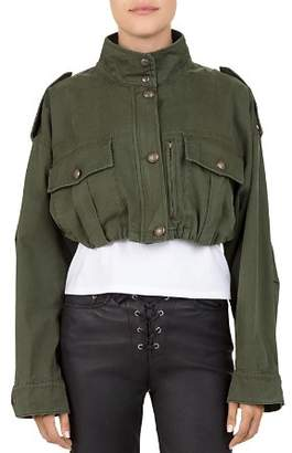 The Kooples Cropped Military Jacket