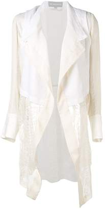 Ann Demeulemeester lace layered jacket