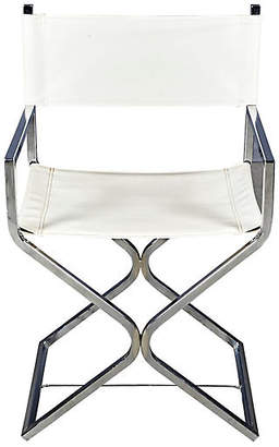 One Kings Lane Vintage 1960s Chrome & Leather Director Chair - 2-b-Modern