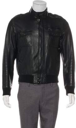 Christian Dior Leather Military Jacket