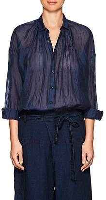 Pas De Calais Women's Linen-Blend Oversized Blouse