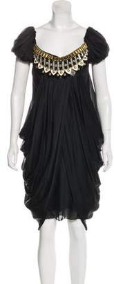 Temperley London Beaded Silk Dress w/ Tags