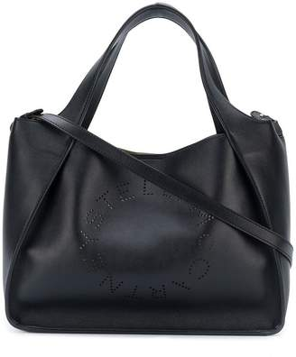 Stella McCartney perforated slogan tote