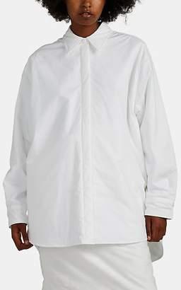 MM6 MAISON MARGIELA Women's Padded Cotton Poplin Oversized Blouse - White