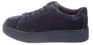 Vince Velvet Platform Sneakers