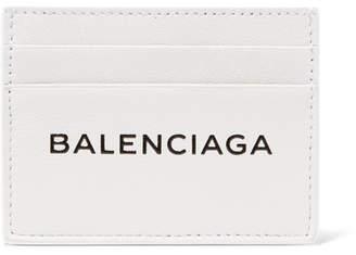 Balenciaga Everyday Printed Textured-leather Cardholder - White