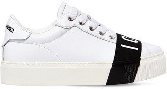 DSQUARED2 40MM TENNIS ICON LEATHER SNEAKERS