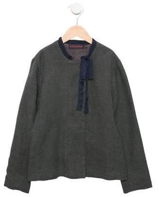 Antik Batik Girls' Tie-Accented Lightweight Jacket