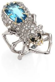 Alexis Bittar Elements Crystal-Encrusted Spider Cocktail Ring $245 thestylecure.com
