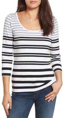 Women's Tommy Bahama Indio Sedaris Stripe Cotton Tee $68 thestylecure.com