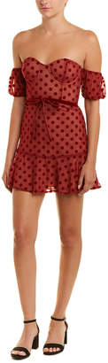 For Love & Lemons Dotted Cocktail Dress