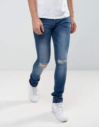 Loyalty And Faith Manchester Skinny Jean with Unrolled Hem in Mid Wash