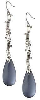 Alexis Bittar Crystal Baguette Linear Drop Wire Earring