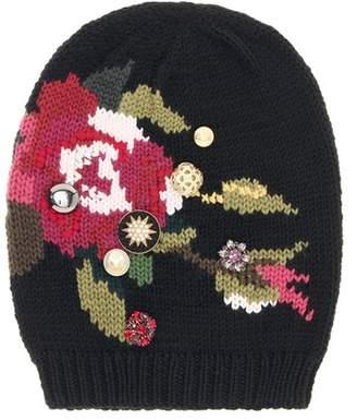 Dolce & Gabbana Embellished wool hat