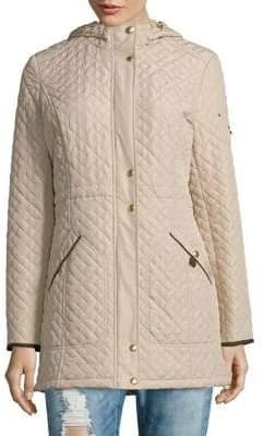 Weatherproof Hooded Quilted Jacket