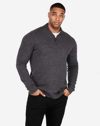 Express Mock Neck Baseball Henley Sweater