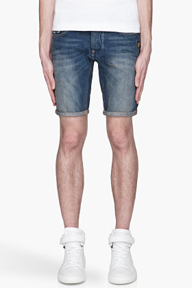 G Star G-STAR Blue Attack Low Tapered denim shorts