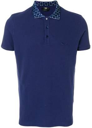 Fendi logo embroidered polo shirt
