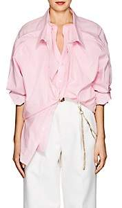 Y/Project Women's Cotton Poplin Double-Front Shirt - Pink