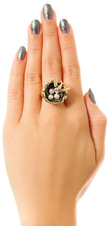 *MKL Accessories The Early Bird Ring in Gold