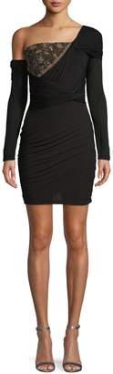 Roberto Cavalli Embellished One-Shoulder Sheath Dress