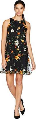 ECI New York Women's Embroidered Floral mesh Swing Dress