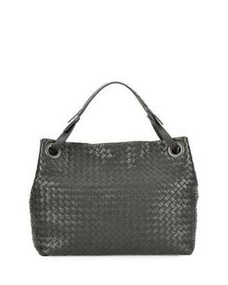 Bottega Veneta Medium Intrecciato Shoulder Bag, Gray $2,650 thestylecure.com