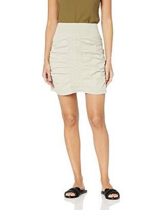 XCVI Women's Trace Skirt Stretch Poplin Solid