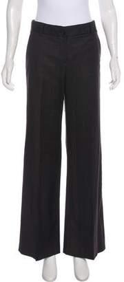 Miu Miu Wool Mid-Rise Pants