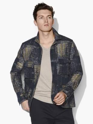 John Varvatos Jacquard Military Jacket