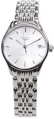 Longines Women's Steel Bracelet & Case Automatic Silver-Tone Dial Analog Watch L43604726