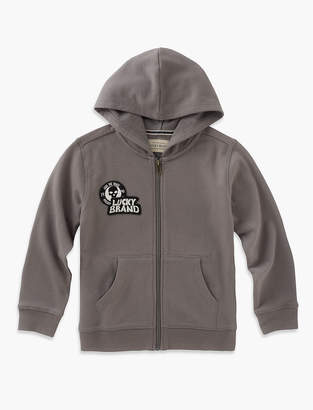 Lucky Brand Long Sleeve Full Zip Printed Hoody