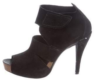 Pedro Garcia Peep-Toe Platform Ankle Boots
