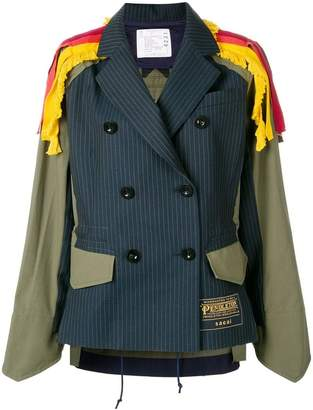 Sacai layered double-breasted blazer