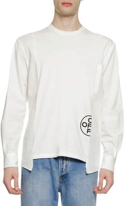 Off-White Off White Men's Hybrid Long-Sleeve T-Shirt