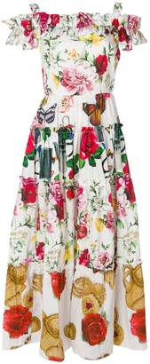 Dolce & Gabbana multi motif print maxi dress