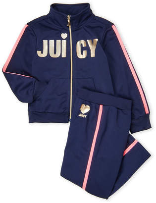 Juicy Couture Toddler Girls) Two-Piece Tricot Track Suit