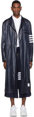 Thom Browne Navy Unconstructed Chesterfield Coat
