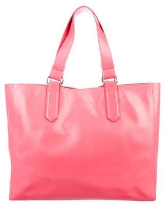 Lanvin Logo-Embossed Leather Tote