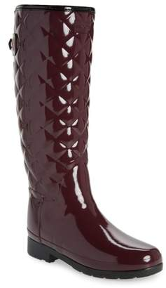 Hunter Refined High Gloss Quilted Rain Boot