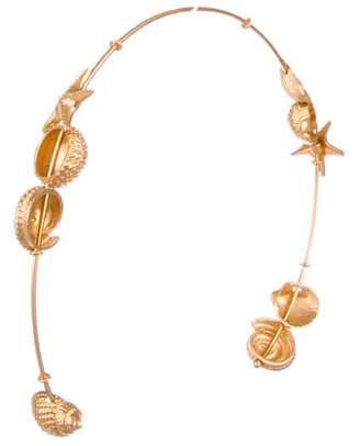 Valentino Metallic Seashell Headband