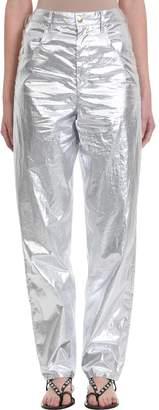 Isabel Marant Torsy Metallic Cotton Pants