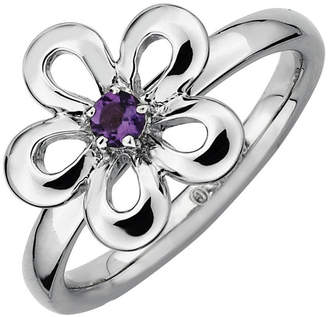 JCPenney FINE JEWELRY Sterling Silver Flower Stackable Ring