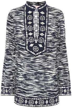Tory Burch Tory Tunic embellished cotton top