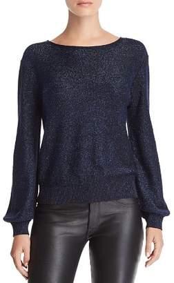 Metallic Shimmer Sweater Shopstyle