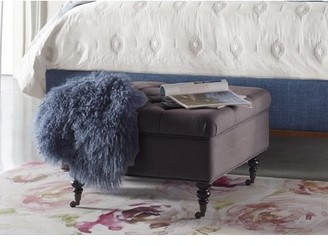 Serta Abbot Square Tufted Ottoman with Storage and Casters