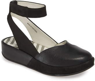 Fly London Boke Ankle Strap Flat