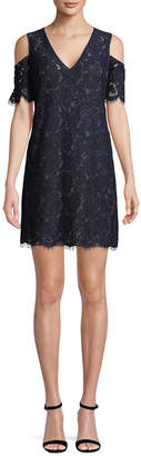 BCBGMAXAZRIA Floral Embroidery Lace Dress