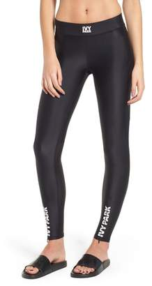 Ivy Park R) Mesh Panel Zip Hem Leggings