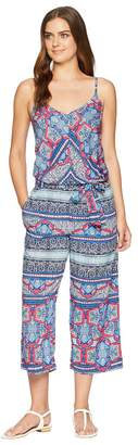 Tommy Bahama Riviera Tile Crop Jumpsuit Cover-Up Women's Swimsuits One Piece